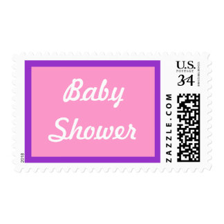 0 29 cent Pink Baby Shower Postage