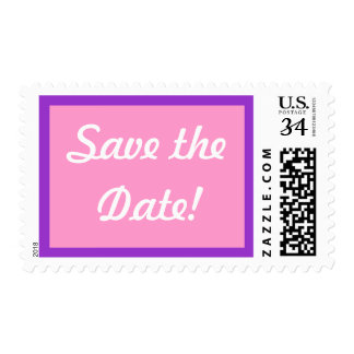 0 29 cent Pink Save the Date Postage