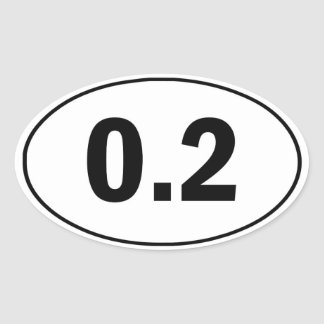 0.2 Mile Funny Running Sticker