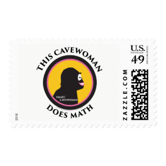$0.49 Medium Postage Stamps Math Smart Cavewoman