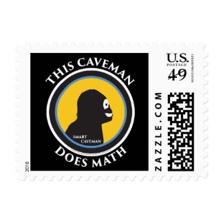 $0.49 Small Postage Stamps Math Smart Caveman