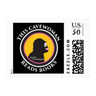 $0.49 Small Postage Stamps Read Smart Caveman