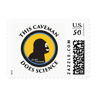 $0.49 Small Postage Stamps Science Smart Caveman
