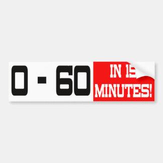 0 - 60 en pegatina para el parachoques de 15 minut pegatina de parachoque