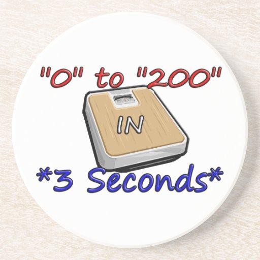 """""""0"""" a """"200"""" en *3 Seconds* Posavasos Diseño"""