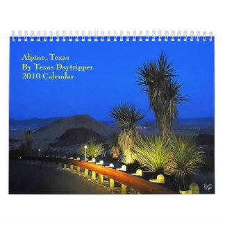 0-Alpine, calendario de Tejas 2010 del Daytripper