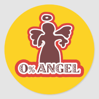 0% Angle Classic Round Sticker