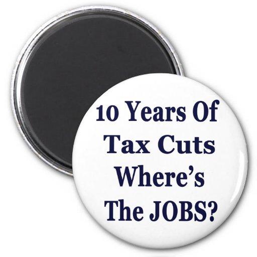 ¡! 0 años de las reducciones de impuestos de Bush  Imán Redondo 5 Cm