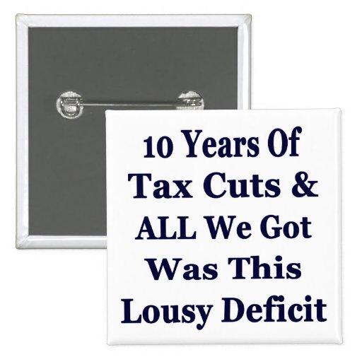 ¡! 0 años de las reducciones de impuestos de Bush  Pins