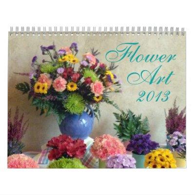 0 artes 2013 de la flor calendarios de pared