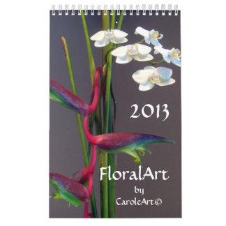 0 artes florales 2013 calendario de pared