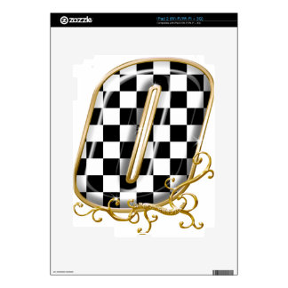 0 auto racing number decals for the iPad 2