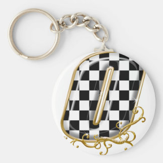 0 auto racing number keychain