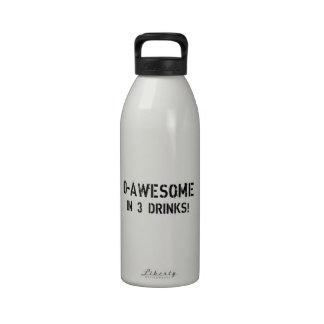¡0-Awesome en 3 bebidas! Botellas De Beber