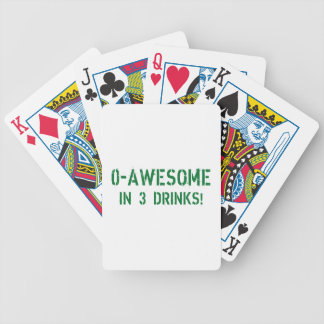 0-Awesome In 3 Drinks! Bicycle Playing Cards
