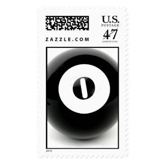 0-ball billiard ball postal stamp