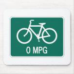 0 bicicletas Mousepad de MPG Tapetes De Ratón