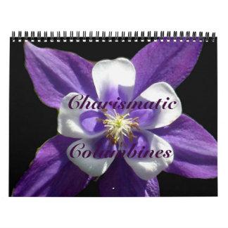 0 Charismatic Columbines Wall Calendars