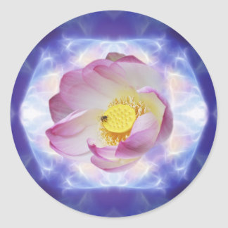 0 crystal lotus.jpg classic round sticker