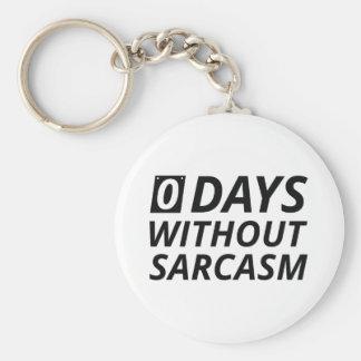 0 Days Without Sarcasm Keychain