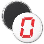 0 despertadores rojos número cero digital imanes para frigoríficos