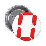 0 despertadores rojos número cero digital pin