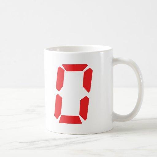 0 despertadores rojos número cero digital taza de café