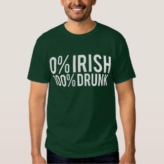 0% Irish 100% Drunk Tee Shirt