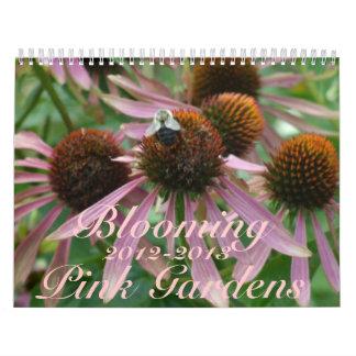 0 jardines rosados florecientes 2012-2013 calendario