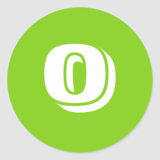 0 Large Round Green Stickers by Janz