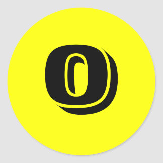 0 Large Round Yellow Number Stickers by Janz