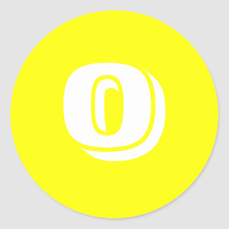 0 Large Round Yellow Stickers by Janz