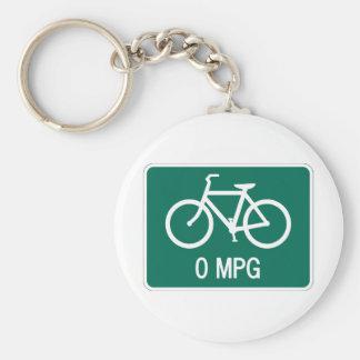 0 MPG Bicycle Key Chain