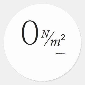 0 N over M2 Classic Round Sticker