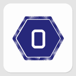 #0 Navy Tek Square Sticker
