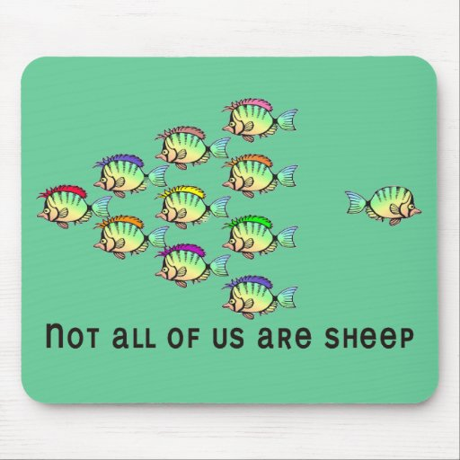 0_NOT_SHEEP TAPETE DE RATON