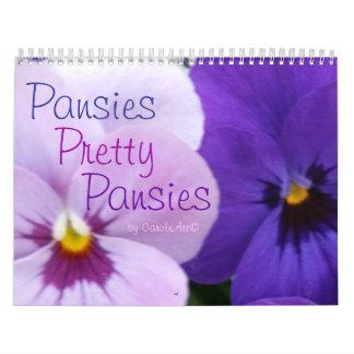 0 Pansies, Pretty Pansies 18 Months Calendar