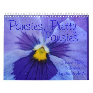 0 Pansies, Pretty Pansies Wall Calendars