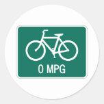 0 pegatinas de la bicicleta de MPG Pegatina Redonda