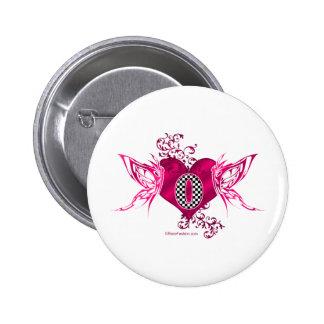 0 racing number butterflies pinback buttons