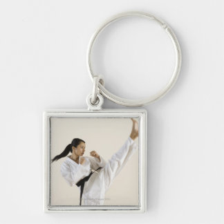 0 Silver-Colored SQUARE KEYCHAIN