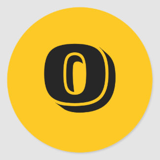 0 Small Round Gold Number Stickers by Janz