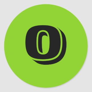 0 Small Round Green Number Stickers by Janz