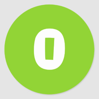 0 Small Round Green Stickers by Janz