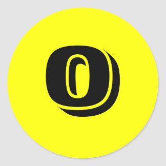 0 Small Round Yellow Number Stickers by Janz