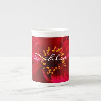 0 Soft Red Dahlia Tea Cup