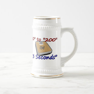 """0"" to ""200"" in *3 Seconds* Beer Stein"