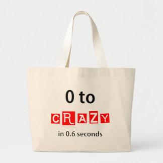 0 TO CRAZY JUMBO TOTE BAG