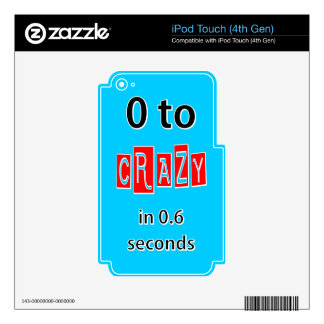 0 TO CRAZY DECALS FOR iPod TOUCH 4G