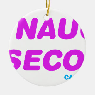 0 To Naughty In 6 Seconds Ceramic Ornament